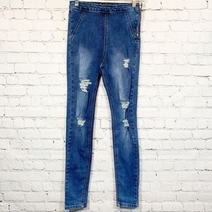 Lawless Distressed High waisted Jegging